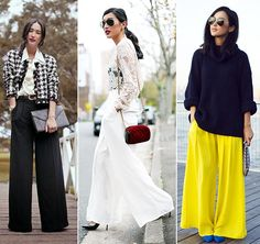 Fall 2014 Pants Trends for Women: Palazzo Pants  #pants #trousers