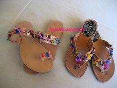 Χειροτέχνημα από Κρήτη - Handmade from Kreta Palm Beach Sandals, Shoes, Crete, Zapatos, Shoes Outlet, Shoe, Footwear
