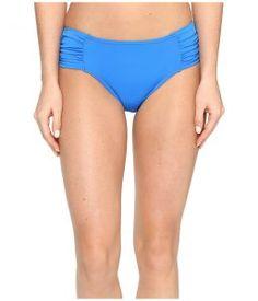 Tommy Bahama Pearl High-Waist Side-Shirred Bikini Bottom (Vivid Blue) Women's Swimwear