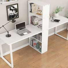 Home Office Space, Home Office Desks, Office Decor, Kids Office, Shared Office, Office With 2 Desks, Double Desk Office, Office In Bedroom Ideas, Home Offices