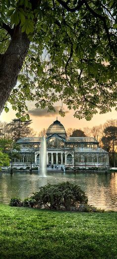 Spain Travel - Crystal Palace, El Retiro park, Madrid, Spain