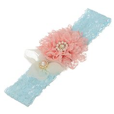 Pale blue lace headband featuring a pale by HalliesCreations14 $14