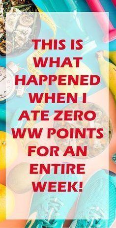 Weight Watchers Freestyle Zero Point Week