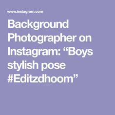 """Background Photographer on Instagram: """"Boys stylish pose #Editzdhoom"""" Blue Background Images, Blue Backgrounds, Poses, Stylish, Instagram, Figure Poses"""