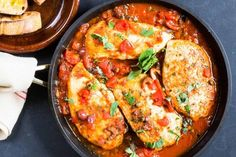 Skillet Chicken Puttanesca