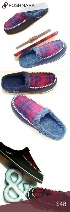 LAST PAIR New Mens 9 Scuff Fleece Line Slippers MEN'S Woolrich Austin Potter Slide Slipper SIZE: 9 Brand NEW with Box Slip On/ Slide On Style Fleecy Interior Scuff type Slippers Color: Red Hunting Plaid Wool /Java Tag on box Bundle for bigger savings! Woolrich Shoes Loafers & Slip-Ons