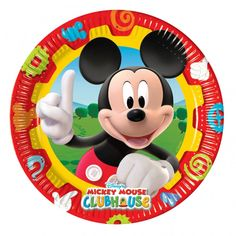 Mickey Mouse Clubhouse Themed Party Plates