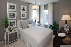 Contemporary Bedroom With Ashen Interior Design ❥❥❥ http://bestpickr.com/small-bedroom-interior-design-ideas