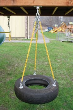 How To Make Your Own Safe Backyard Tire Swing by Betsy19