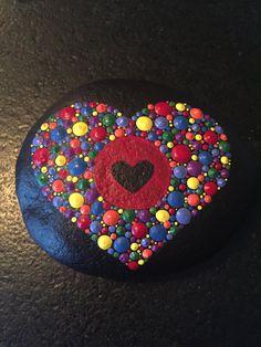 Hand Painted Mandala River Stone by ValsMandalas on Etsy