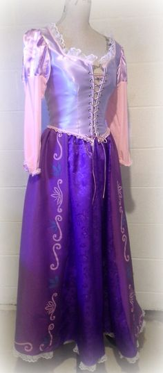 Custom Princess Cosplay Or Renaissance Costume Tangled Inspired Rapunzel Dress on Etsy, $305.00