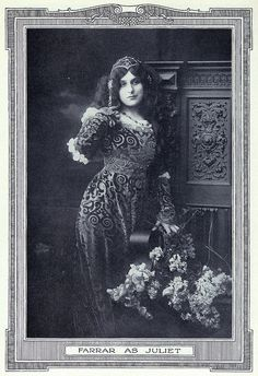 Geraldine Farrar as Juliet--from the victor book of the opera, third revised edition, 1915