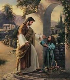 "Christ and a little girl. ""Pure In Heart"" by Simon Dewey God and Jesus Christ Lds Pictures, Catholic Pictures, Pictures Of Jesus Christ, Church Pictures, Print Pictures, Scripture Pictures, Lds Art, Bible Art, Images Du Christ"