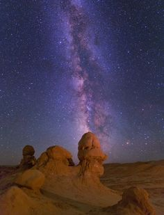 Milky Way over Goblin Valley State Park, Utah.