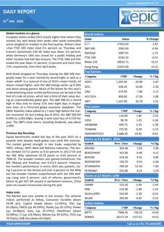 Epic research special report of 1 jan 2016  Epic Research is expertise in serving Stock Market recommendations generated by the experienced research team whose technical analysis is best for all the segments of the Indian share market and Global market.