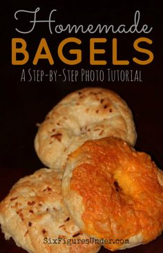 Note: knead for 10 to 12 minutes instead of Step-by-step photo tutorial for delicious homemade bagels. Create a gourmet bakery treat with this simple recipe and your favorite bagel toppings or mix-ins! Croissants, Cheesecakes, Bagel Toppings, Gourmet Bakery, Brunch, Homemade Bagels, Snacks, Bread Rolls, Photo Tutorial
