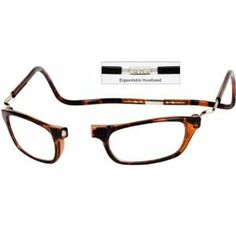 CliC +3.5 Diopter Magnetic Reading Glasses: Expandable - Tortoise by Unknown. $32.95. Hang around the neck. +3.5 Readers. Magnetic Reading Glasses. Never misplace your readers again! Unique, stylish CliC Reading Glasses have a magnetic front connection that gives you quick, easy access to your eyeglasses when you need them. No more outdated eyeglass chains or uncomfortable elastic headbands - and no more hassles searching everywhere for your misplaced glasses.  Wh...