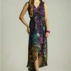 R&J splatter hi low dress -M Nwot. More detailed pics soon  NO trades/PP Romeo & Juliet Couture Dresses High Low