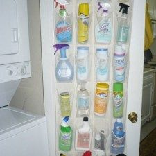Top 58 Most Creative Home-Organizing Ideas and DIY Projects - DIY & Crafts---I'm gonna have to do this to keep Presley out of my cleaners. She is everywhere!