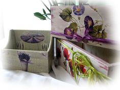 charming boxes decorated with ItdCollection papers