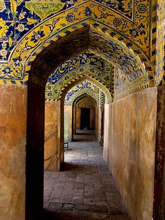 Isfahan Mosque:  Located in Isfahan, 340 km south of Tehran, the Friday mosque of Isfahan is a prominent architectural expression of the Seljuk rule in Persia (1038-1118). In 1051, Isfahan became the capital of the Seljuks, who arrived in Khwarazm and Transoxiana from central Asia in the eleventh century. Defenders of Sunnism, they aimed at the restoration of the Abbasid Caliphate.