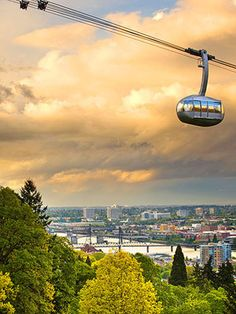 The tram up to OHSU in Portland.     My last visit to OHSU was in 1987, before that was built. I'd love to take the tram up there sometime :D