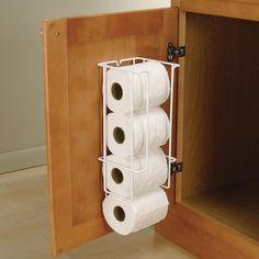 Knape & Vogt 16 in. x 5.38 in. x 5.5 in. Door Mounted Toilet Paper Holder