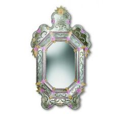"Gold And Pink ""Isabella"" venetian mirror   Venetian mirrors"