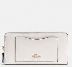 Coach Crossgrain Leather F54007 Accordion Zip Wallet. Free shipping and guaranteed authenticity on Coach Crossgrain Leather F54007 Accordion Zip WalletBeautiful Coach Crossgrain Leather Accordion Zip W...