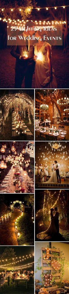 As you may know, lighting is one of the hottest wedding décor ideas for receptions and ceremonies. Lighting has the magical power to add a glamorous and romantic touch to the big day and set the mood for their guests. Gorgeous lights are smartly decorated on trees and bushes, ceilings, venues and tents, mason jars, and … #weddingideas