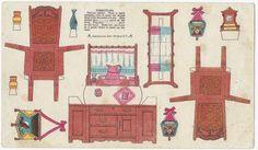 Circa 1900 Trade Card Paper Doll Furniture Enterprise Coffee Baltimore | eBay