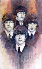 Watercolor Paintings - The Beatles 02 by Yuriy Shevchuk