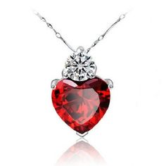 60% off Heart Red Pendant Necklace Love Perfume Women Girl Necklaces Wedding Party Sale Jewerly Christmas Gift Ulove 55641