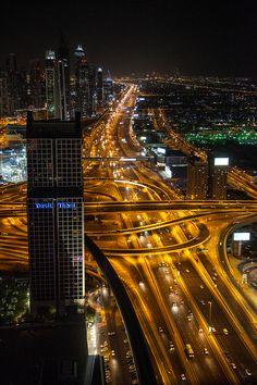 Dubai - ©Carambol Dubai Activities, Nightlife, Times Square, Travel, Long Exposure, Night Photography, Voyage, Viajes, Traveling