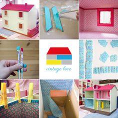 Morgen zeige euch euch, wie man ein Puppenhaus tapeziert :)