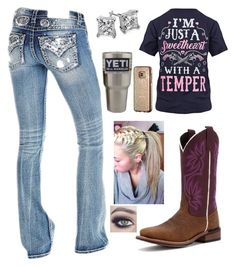 """""""1.17.18"""" by mud-lovin-redneck ❤ liked on Polyvore featuring Laredo, Blue Nile and Samsung"""