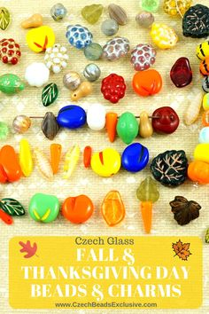 Czech Glass� Autumn / Fall Harvest And Thanksgiving Day Czech Glass Beads And Patina Charms Beads  Fall / Autumn / Thanksgiving Colors, Different finishes and sizes! - Buy now with discount!  Hurry up - sold out very fast! www.CzechBeadsExclusive.com/+fall SAVE them! ??Lowest price from manufacturer! Get free gift! 1 shipping costs - unlimited order quantity!  Worldwide super fast ?? shipping with tracking number! Get high wholesale discounts! Sold with  at http://www.CzechBeadsExclusive.com…