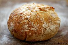 The best bread in the world :-) Bread Machine Recipes, Bread Recipes, Snack Recipes, Cooking Recipes, Scottish Recipes, Czech Recipes, Salty Foods, No Knead Bread, Bread And Pastries