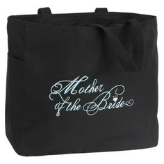 Mother Of The Bride Wedding Gift Tote Bag Black