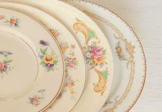 Mismatched Vintage Place Setting Dinner Plate by RosebudsOriginals