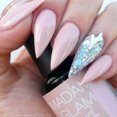 21 Fab and Stylish Nude Stiletto Nails to Be in Trends ❤ Trendy Nude Stiletto Nails Designs picture 2 ❤ Nude stiletto nails never go out. Check out our freshest collection of nail art with nude nail polish shades to get inspired.https://naildesignsjournal.com/nude-stiletto-nails-trends/ #naildesignsjournal #nails