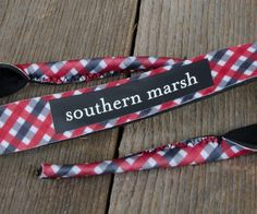 Southern Marsh Sunglass Strap in Red with Black Southern Marsh, Seersucker, Pattern Making, Pretty Outfits, Gingham, What To Wear, Custom Design, Stitch, Sunglasses
