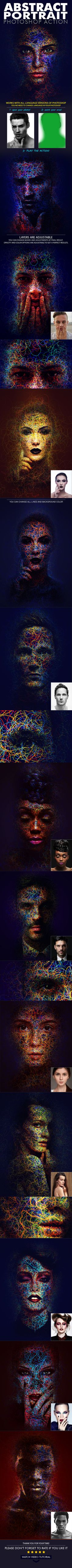 Abstract Portrait Action — Photoshop ATN #tutorial #atn • Download ➝ https://graphicriver.net/item/abstract-portrait-photoshop-action/19746177?ref=pxcr