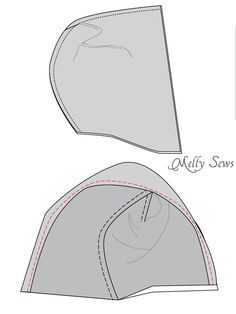 Step 2 - Zippy Jacket Pattern by Blank Slate Patterns - How to add a hood to a shirt or sweatshirt - with FREE pattern - Melly Sews