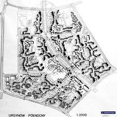 M. Budzyński, Ursynów Północnym 1971. Dominująca komunikacja, ulica wraca do roli pełnoprawnego elementu urbanistycznego - a w okół niej coś się buduje! Konsekwentna realizacja, układy mieszkań M5,M6,M7! a nawet mieszkania dwukondygnacyjne. Zasada szkoły jako główny element - zostaje.