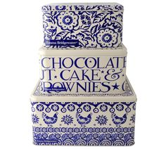Emma Bridgewater Blue Hen Square Cake Tins, Set of 3 £33.99