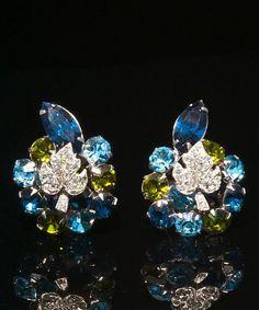 Dazzling Diamante & Rhinestone Vintage William Hobé 3 Piece Parure from giddy on Ruby Lane