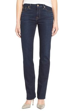 7 For All Mankind® 'Kimmie' Straight Leg Jeans (Dark Dusk Indigo) available at #Nordstrom