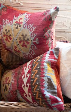 Kilim Pillows - These would be great for accent pillows - ideally lumbar style to place on maching accent chairs