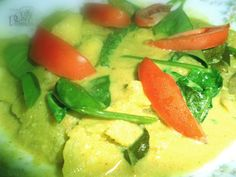 Ash plantain and Kangkung curry